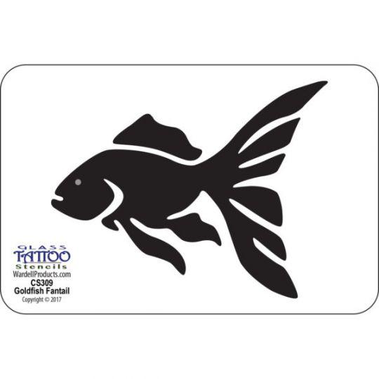 Goldfish Fantail Stencil