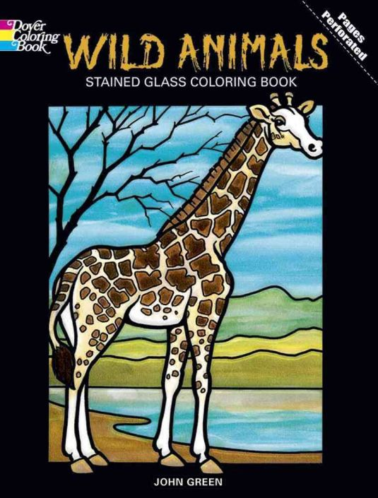 Wild Animals Stained Glass Coloring Book: Glass Crafters Stained Glass