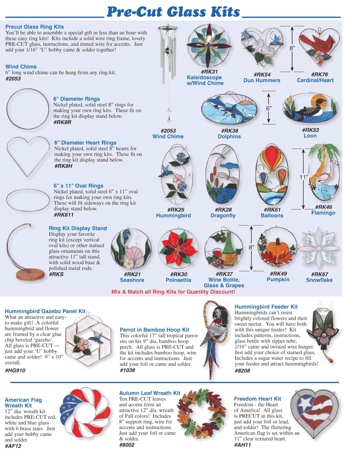 Pre-Cut Glass Kits