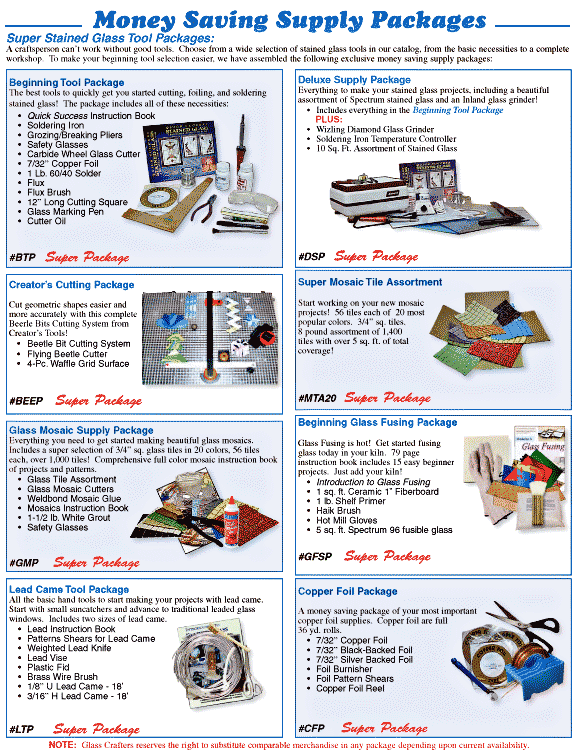 Money Savings Supply Packages