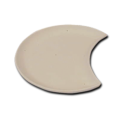 Ceramic Slumping Mold - Moon Shape Plate  sc 1 st  Glass Crafters & Ceramic Slumping Mold - Moon Shape Plate: Glass Crafters Stained Glass
