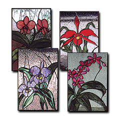 4 Orchids Pattern Set Glass Crafters Stained Glass