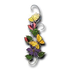 butterflies pre cut scroll kit glass crafters stained glass